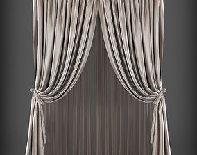 Curtain 3D model - 192 realtime