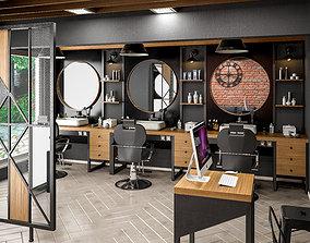 3D Barber Shop Design