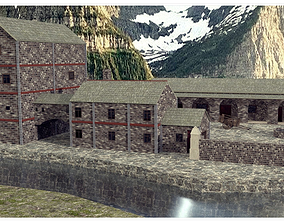 3D model Medieval Building Collection No 3