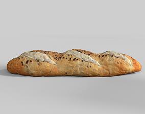Bread 3D model Photoscan Baugette realtime