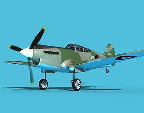 3D model Curtiss P-40B Warhawk V07 USAAF