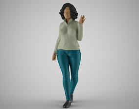 3D print model Girl Greetings from Afar