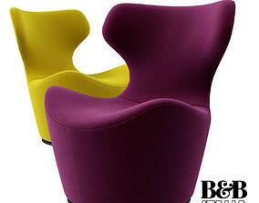3D model B B Italia Piccola Papilio chair
