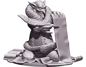 Goblin with contract 3D print model