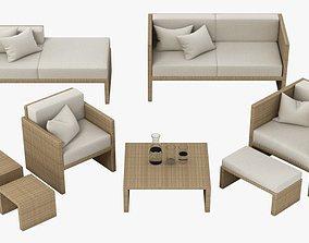 Outdoor Lounge Set 003 3D model