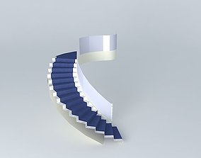 MH entry hall stairs 3D