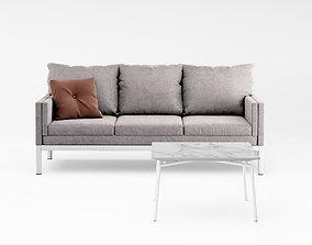 Johanson Reform Lounge sofa and boston table 3D model