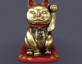 3D Maneki Neko Japan cat