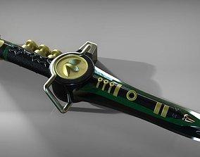 Green Ranger dragon dagger from Mighty 3D print model 2