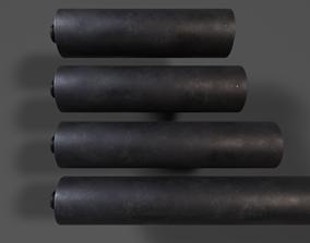 3D asset Weapon Silencer Pack PBR Model
