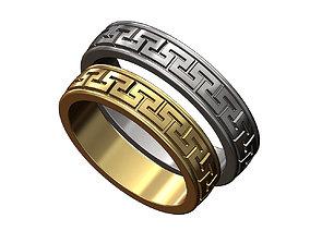 3D printable model Meandre Greek key pattern ring