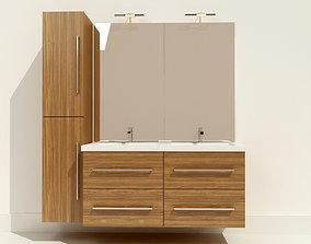 3D model Wash basin with vanity unit