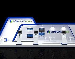 3D booth Booth Design 12x4 modern Minimalis