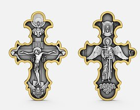 3D printable model Cross double sided