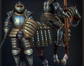 Heavy Armored Knight 3D model