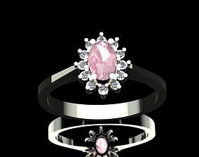 Morganite Diamond Engagement Ring 3D print model