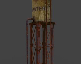 Water tower environment 3D model