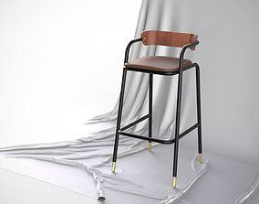 Designer Bar Stool Mid Century Modern Scandinavian 3D 1
