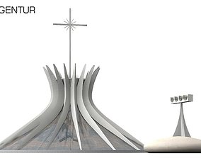 Cathedral of Brasilia 3D model