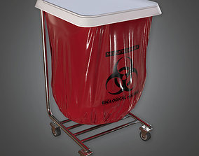 3D asset Medical Disposal Stand HPL - PBR Game