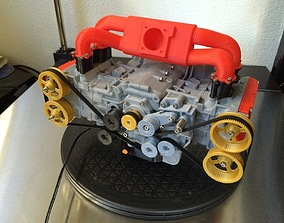 3D print model Subaru WRX EJ20 boxer engine