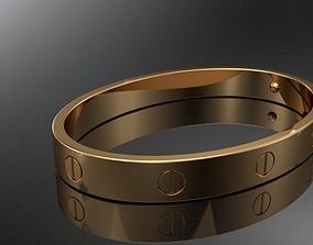 Love Bracelet Cartier 3D printable model printable