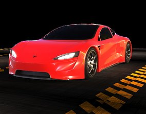 3D Tesla Roadster x