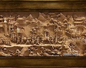 3D print model Mural landscape wood carving file stl 4