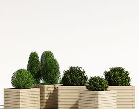 Cube planter 3D model