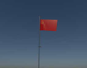 3D model Soviet union flag