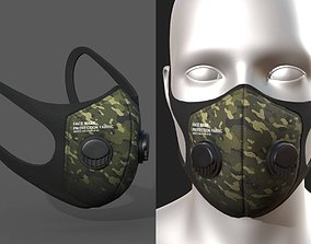 3D asset Gas mask protection futuristic fabric safety