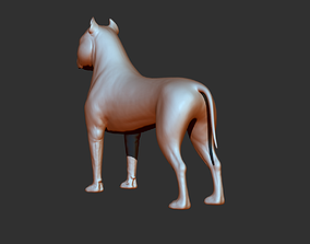 Dog of American Staffordshire Terrier 3D printable model
