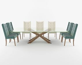 3D Verona dinning table and chair