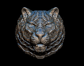 bikers 3D print model TIger ring