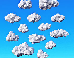 3D model low-poly Clouds Pack Low Poly v2