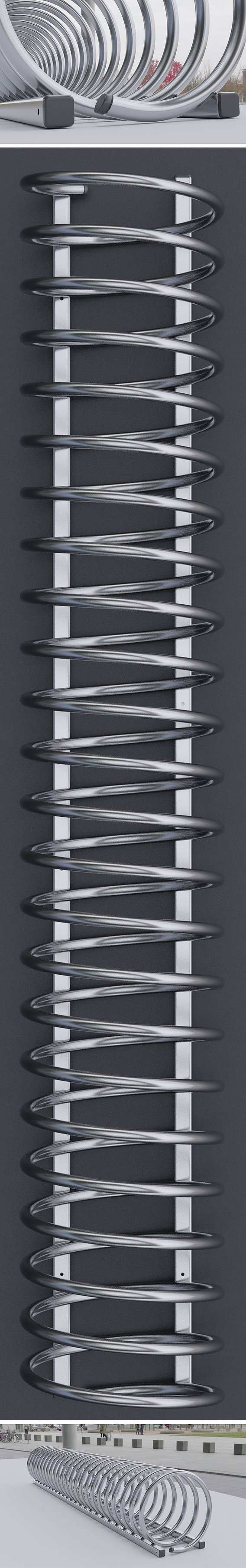 Spiral Bike Stand -2- High-Poly Version