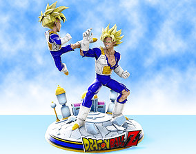 3D print model Goku vs Gohan training at hyperbolic time 1