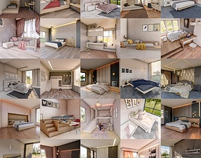 25 Bedroom Collection 3D model
