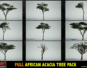 3D FULL AFRICAN ACACIA TREE PACK - 9 TREES
