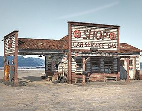 Abandoned Gas station Route 66 3D model