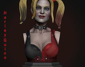 Harley Quinn Bust STL 3D print model glamour