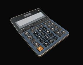 Calculator 3D asset game-ready