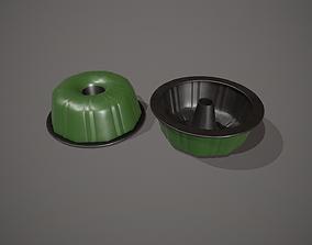 3D model Green Funnel - Bundt Cake Tin
