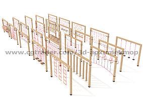 Wooden Playground Set 3D