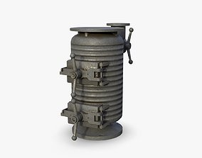 Bunker Stove WWII 3D model