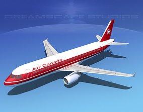3D asset Airbus A320 LP Air Canada
