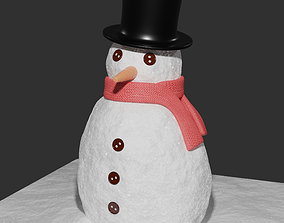 Snowman various-models 3D model low-poly