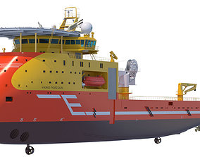 3D model Offshore Construction Vessel Viking Poseidon