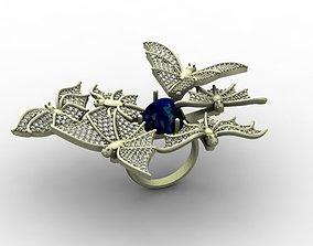 sarcophagu 3D print model Bat ring