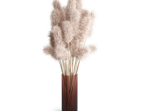 arrangement 3D Pampas grass decor